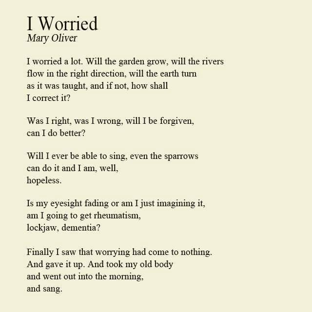 I worried poem